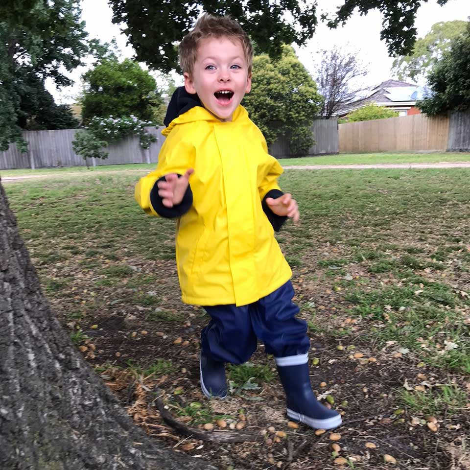 WelliesAU Yellow Rainy Days Raincoat