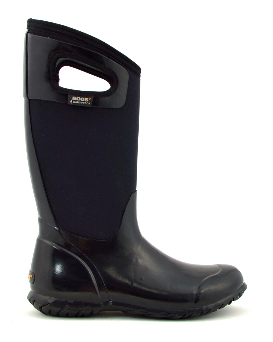 North Hampton Solid Black Tall Gumboots