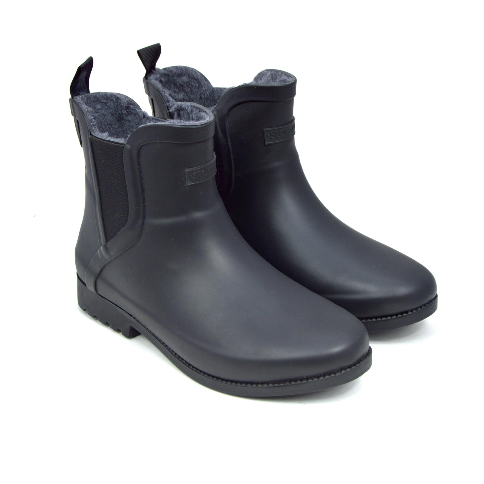 Original Fleeced II Black Ankle Gumboots