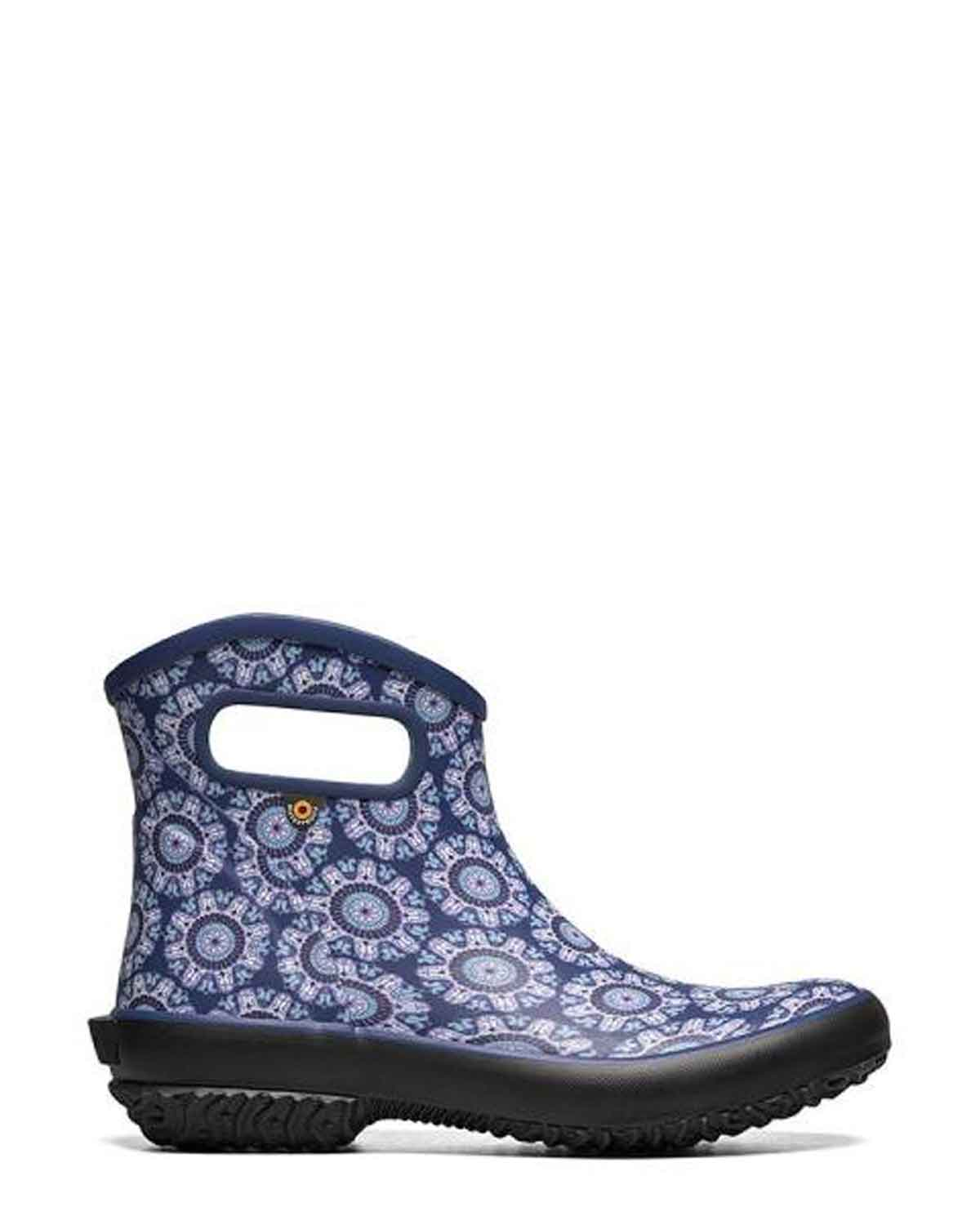 Patch Ankle Gumboots June Blue