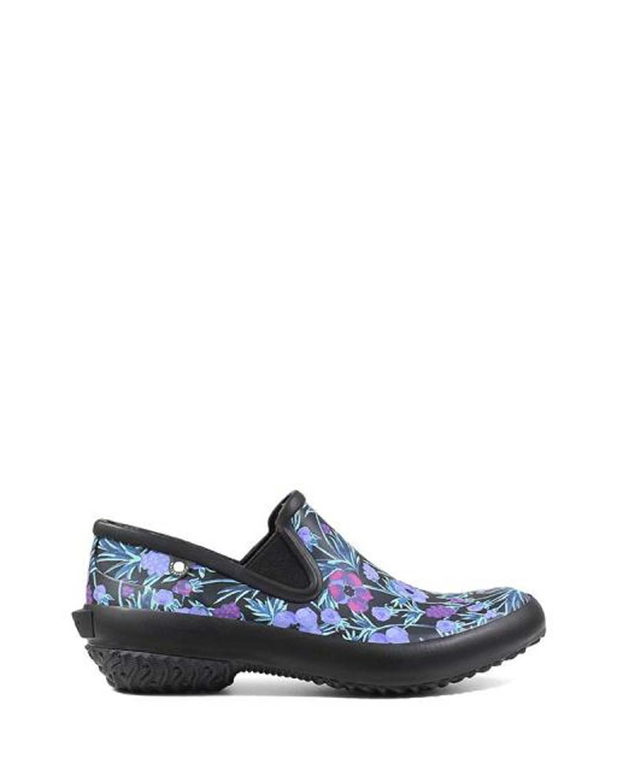 Patch Slip-on Rubber Shoes Floral