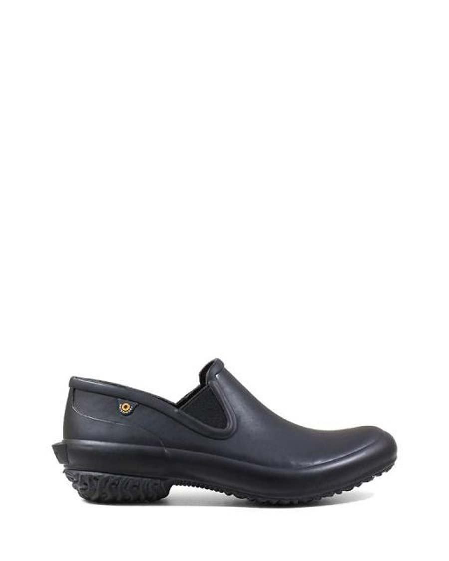 Patch Slip-on Rubber Shoes Solid Black