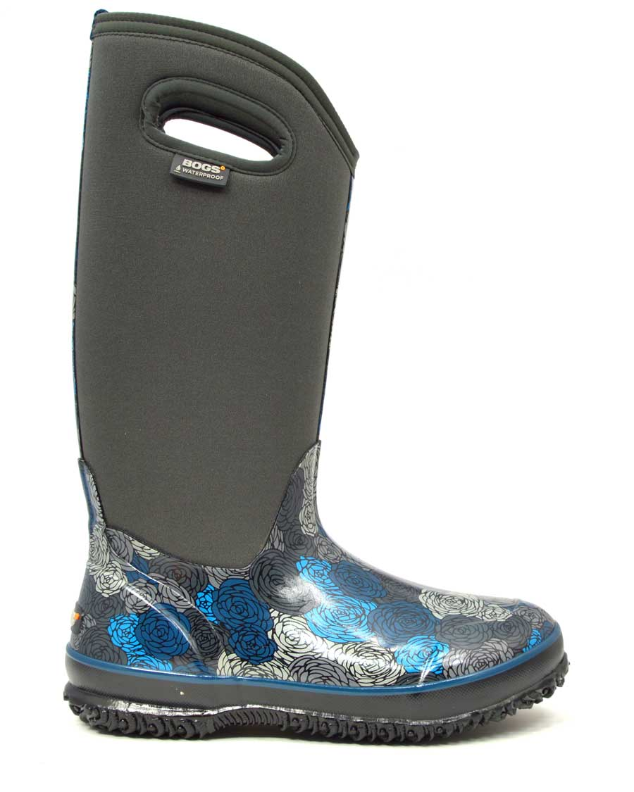 Classic Rosey Tall Dark Grey Gumboots