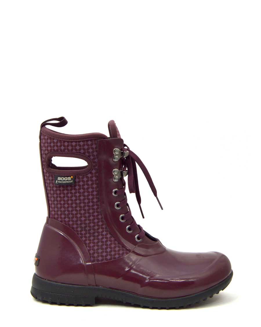 Sidney Cravat Burgundy Lace Up Gumboots