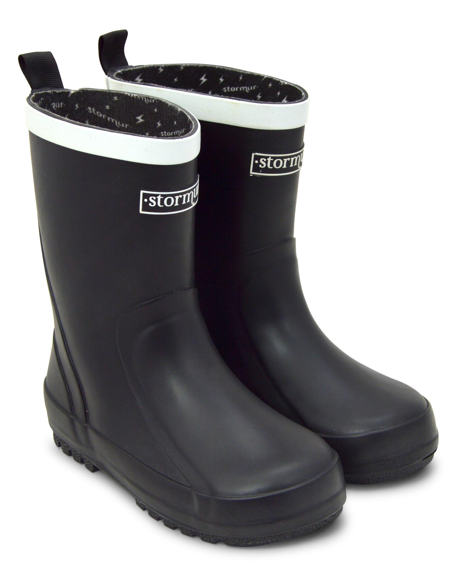 Splasher Black Kids Gumboots