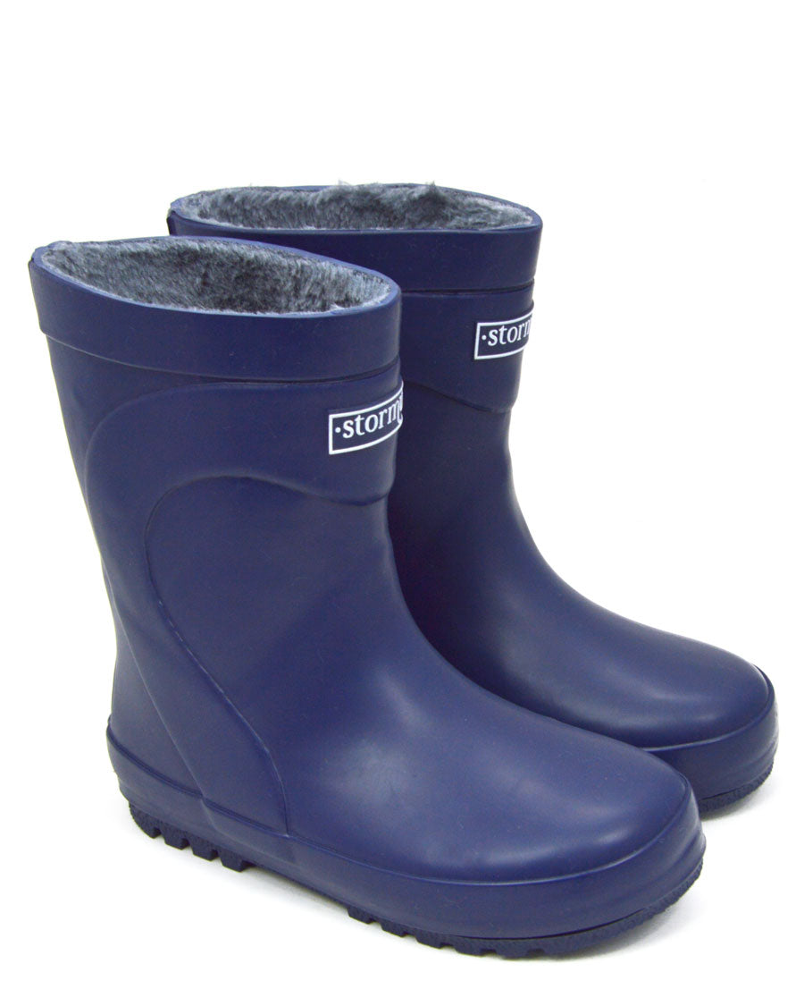 Fleeced Original Kids Gumboots Navy