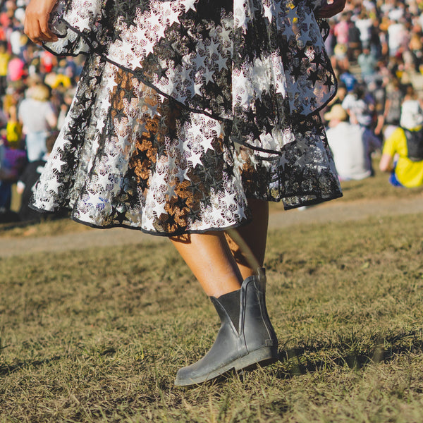 Black Festival Life Ankle Boots Dress