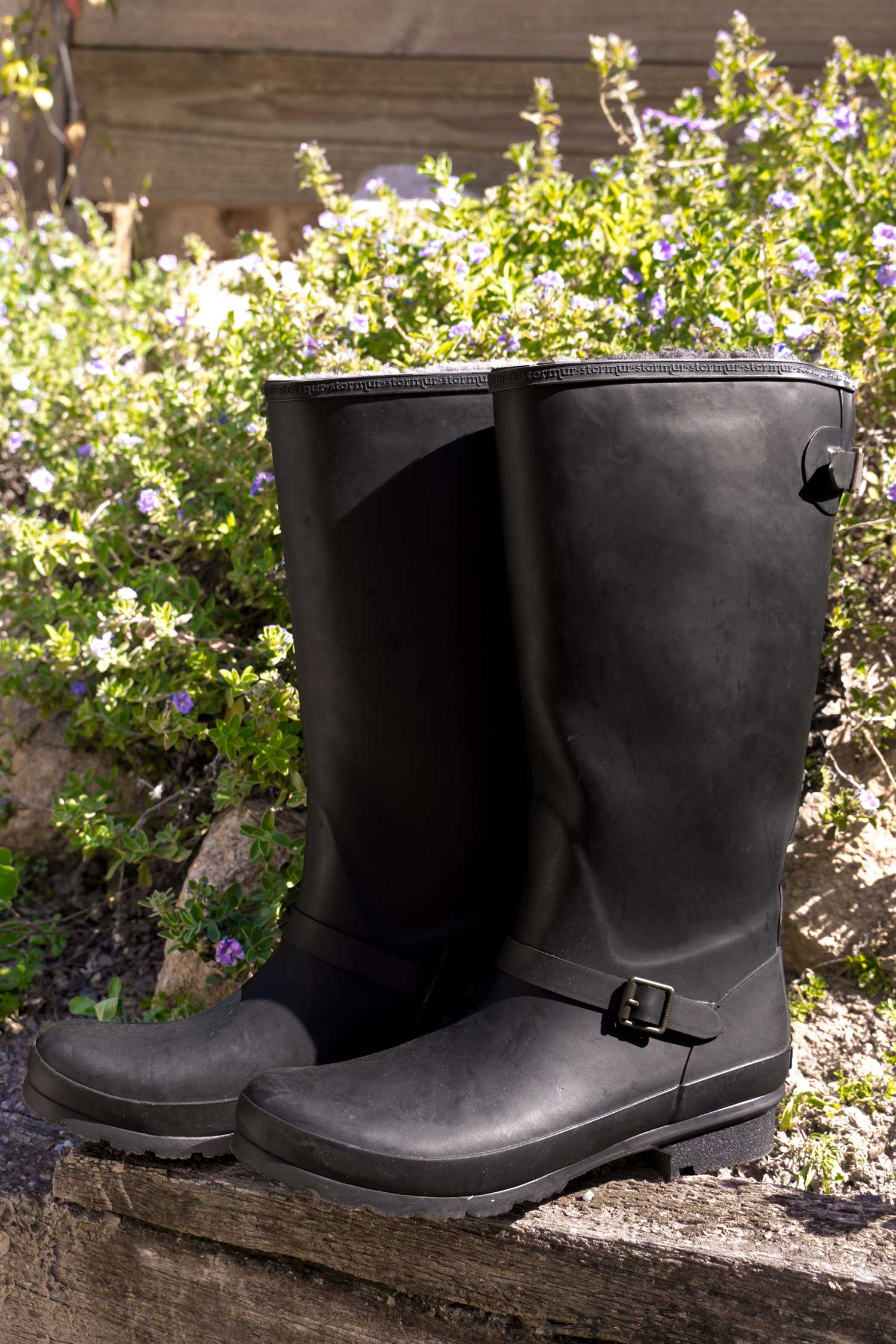 Original Fleeced Tall Gumboots Rustic Black