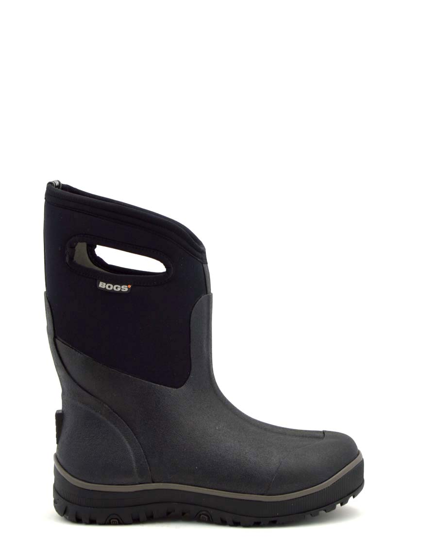 Bogs Ultra Mid Black Mens Gumboots