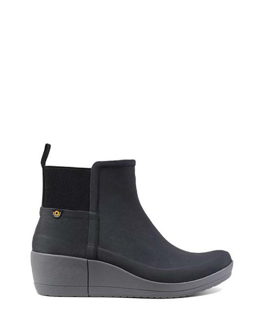 Vista Wedge Wellies Black