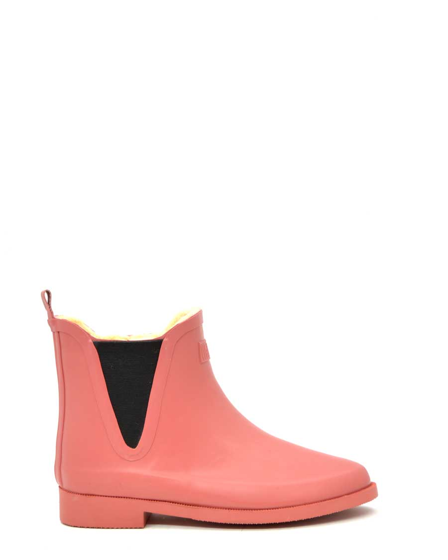 Fleeced V Salmon Wellies