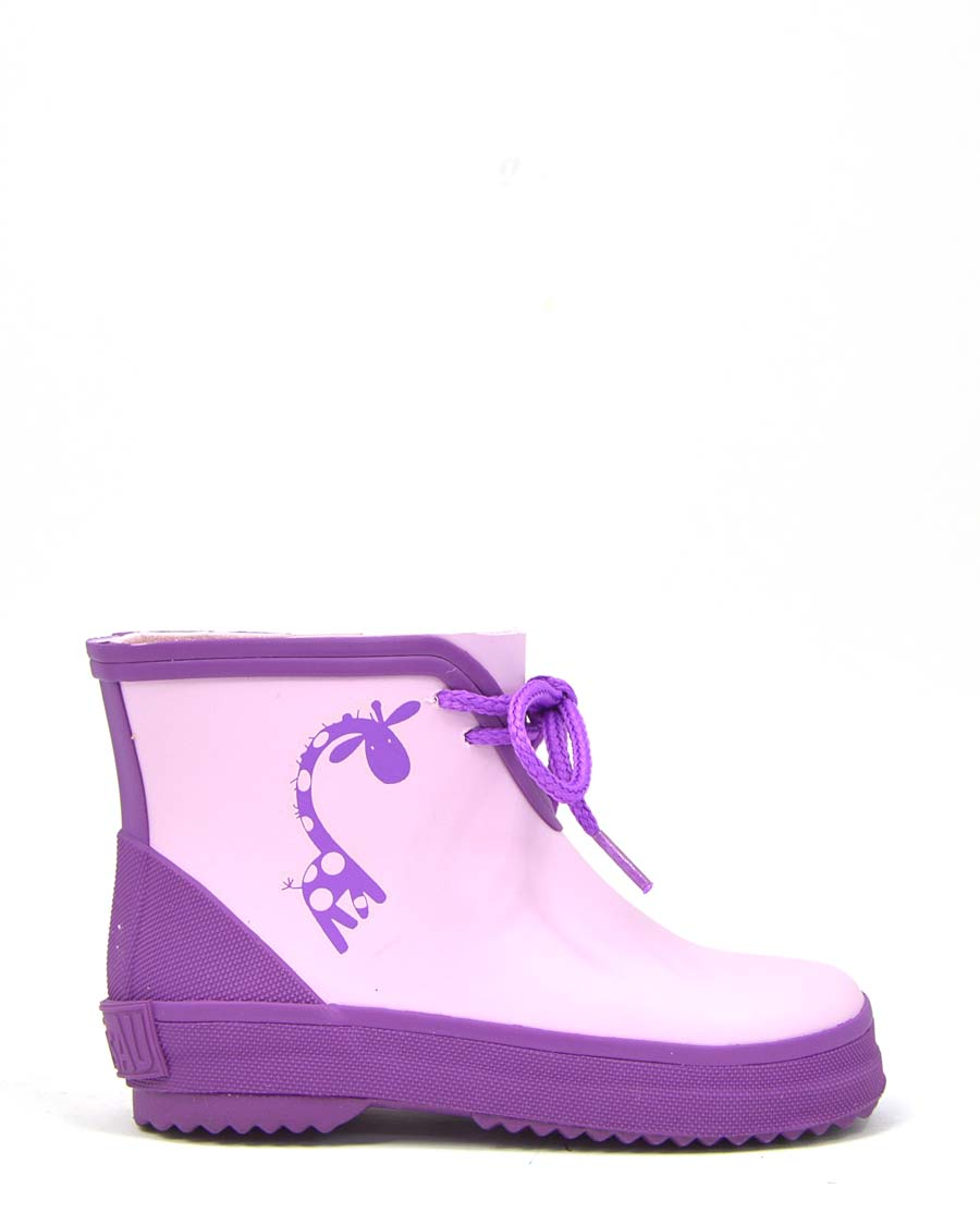 Giraffe Purple Wellies