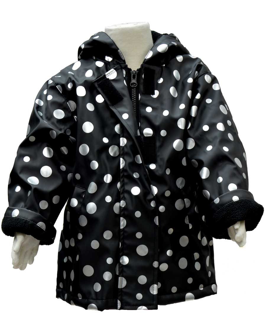 WelliesAU Metallic Spots Rainy Days Raincoat