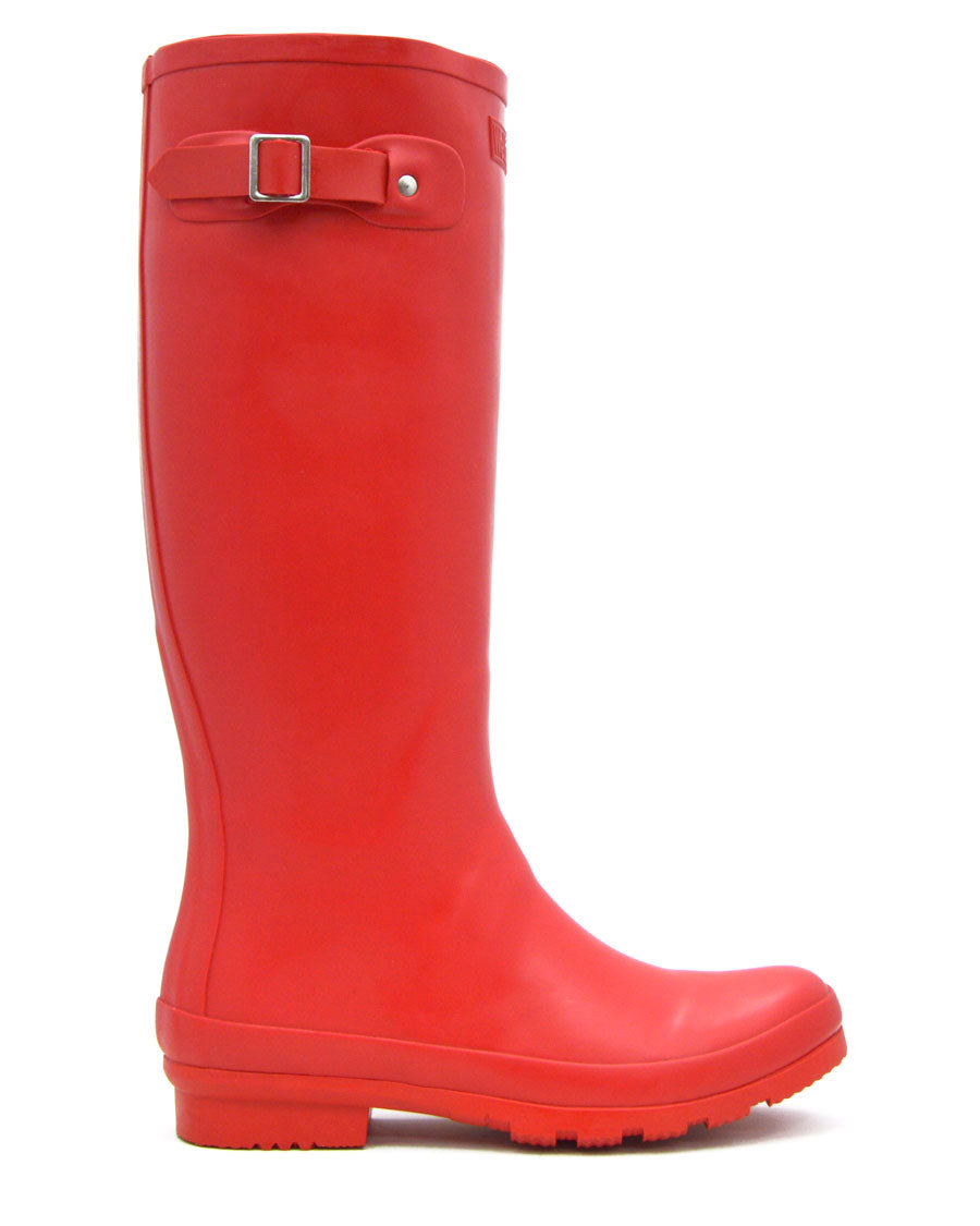Red Tall Wellies