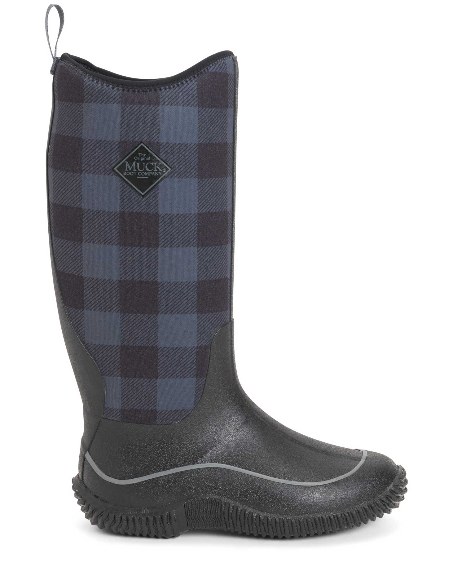 Hale Plaid Tall Gumboots