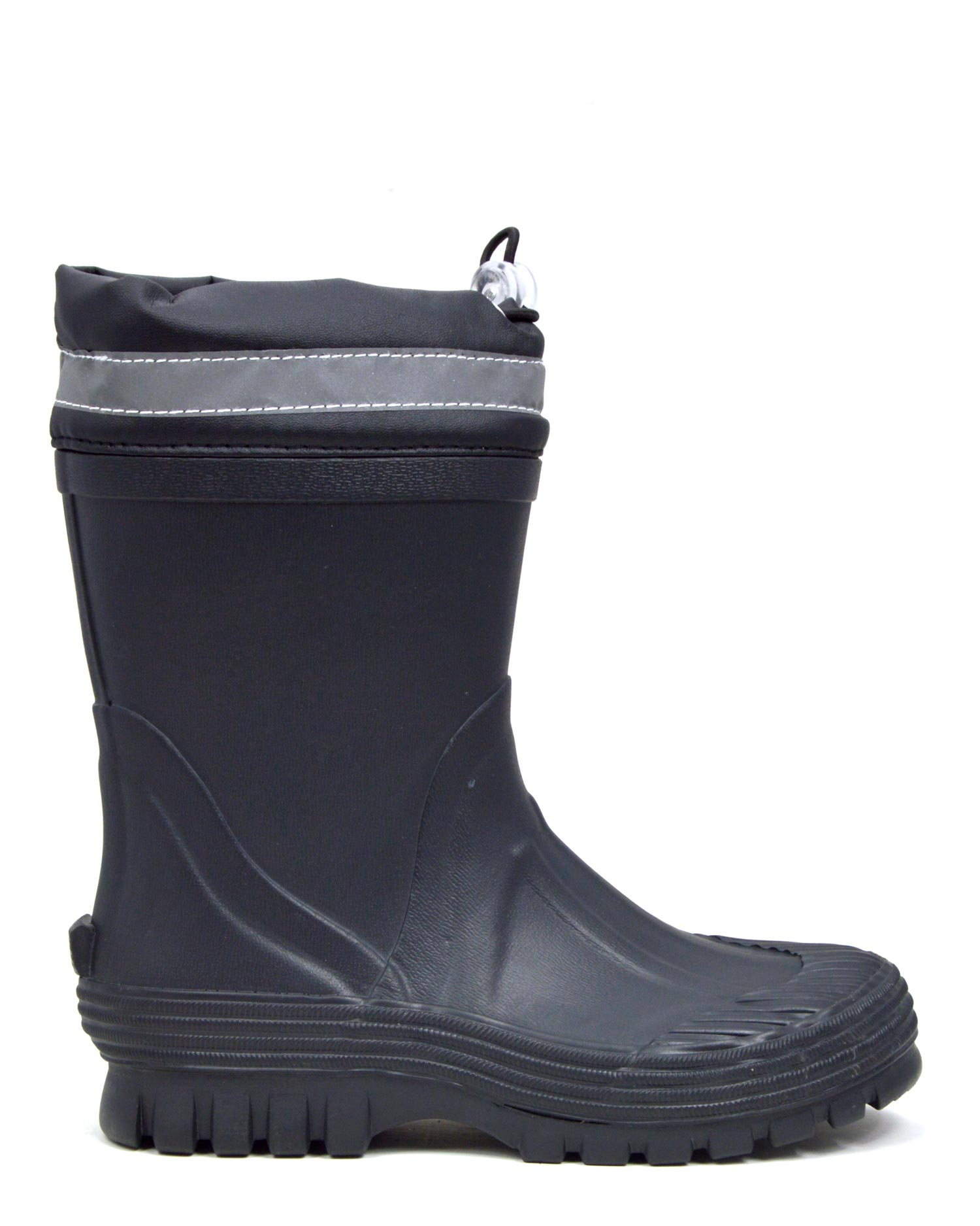 Youth Toggle Black Gumboots