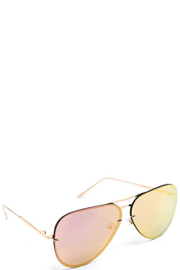Fashion Pink Purple Aviator Sunglasses - Babe Shoppe