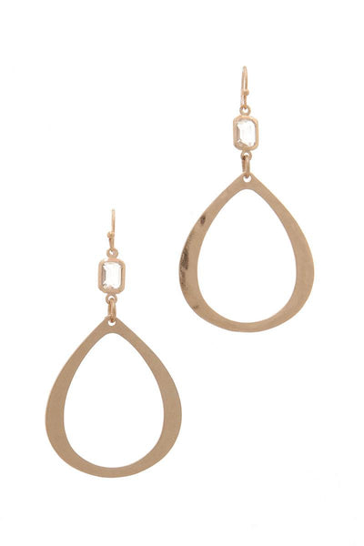 Wide Teardrop Shape Drop Earring
