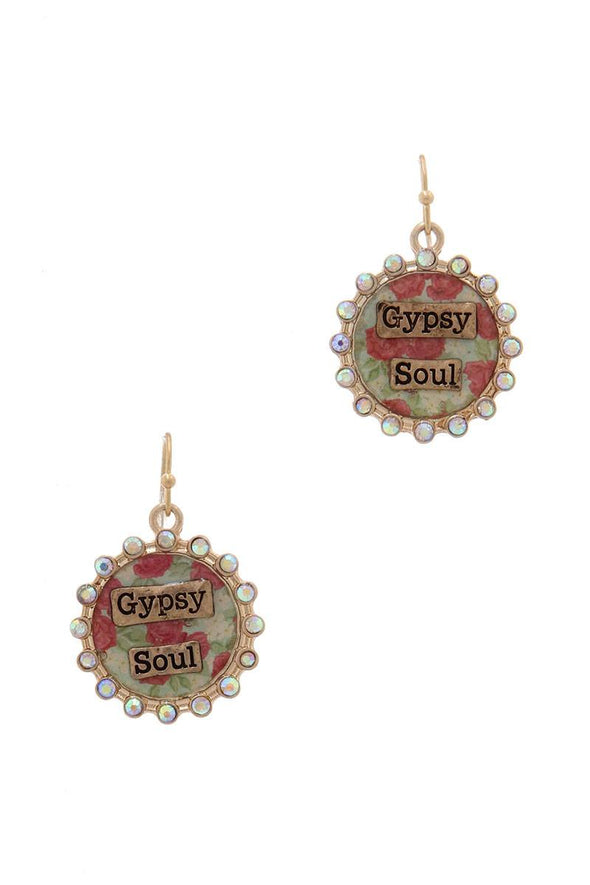 """gypsy Soul"" Rhinestone Drop Earring - Babe Shoppe"