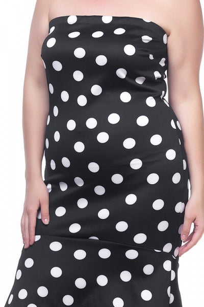 Sleeveless Polka Dot Dress - Babe Shoppe