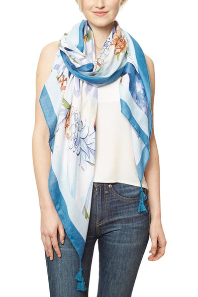 Tropical Print Scarf - Babe Shoppe