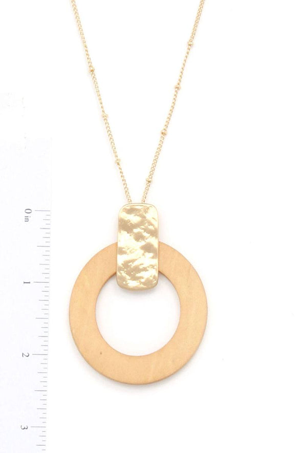 Cut Out Circle Pendant Necklace - Babe Shoppe
