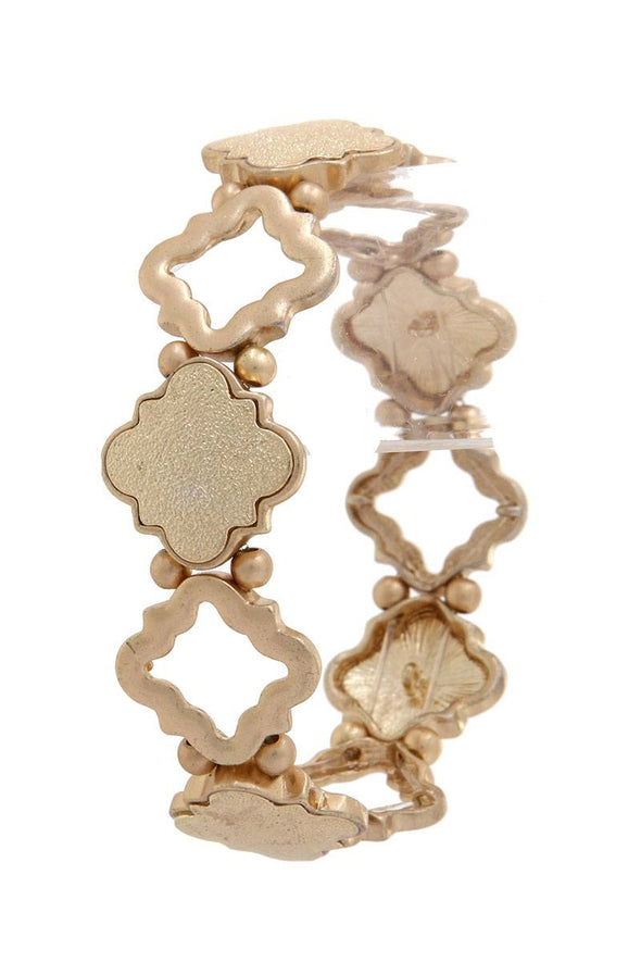 Quatrefoil Shape Stretch Bracelet - Babe Shoppe