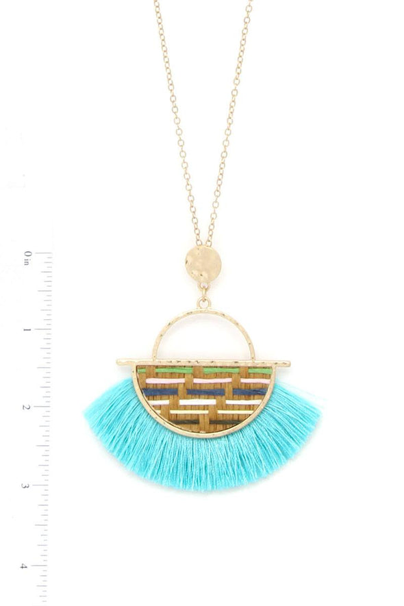 Half Circle Tassel Pendant Necklace - Sassy Gal Fashion