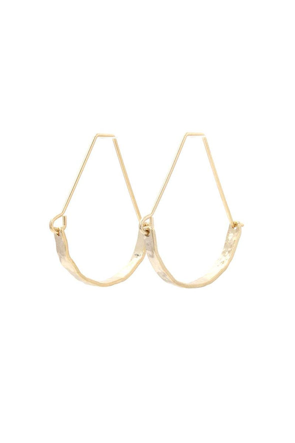 Hammered Metal Drop Earring - Babe Shoppe