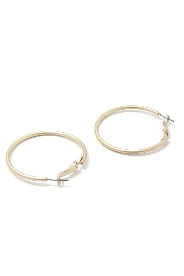 Metal Hoop Earring - Babe Shoppe