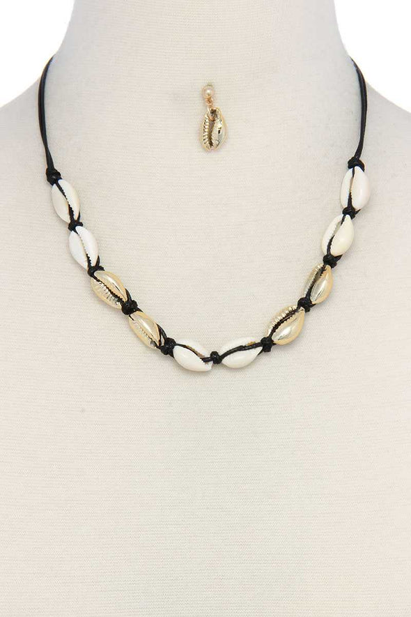 Coffee Bean Shell Necklace - Babe Shoppe