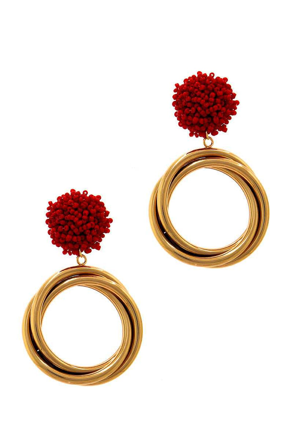 Chic Modern Multi Hoop Drop Earring - Babe Shoppe