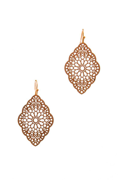 Stylish Filigree Chic Drop Earring - Babe Shoppe