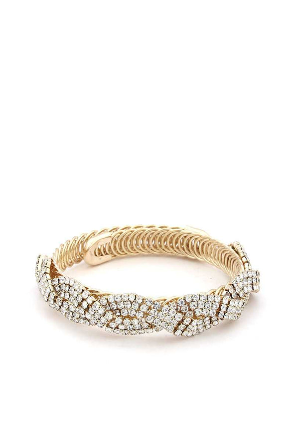 Flexible Rhinestone Metal Bracelet - Sassy Gal Fashion