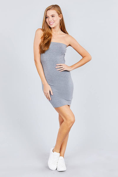 Tube Cotton Spandex Mini Dress
