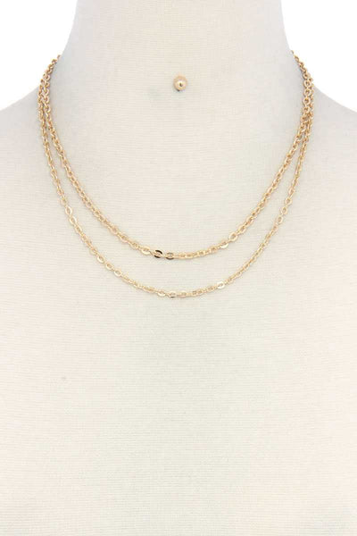 Metal Layered Necklace - Babe Shoppe
