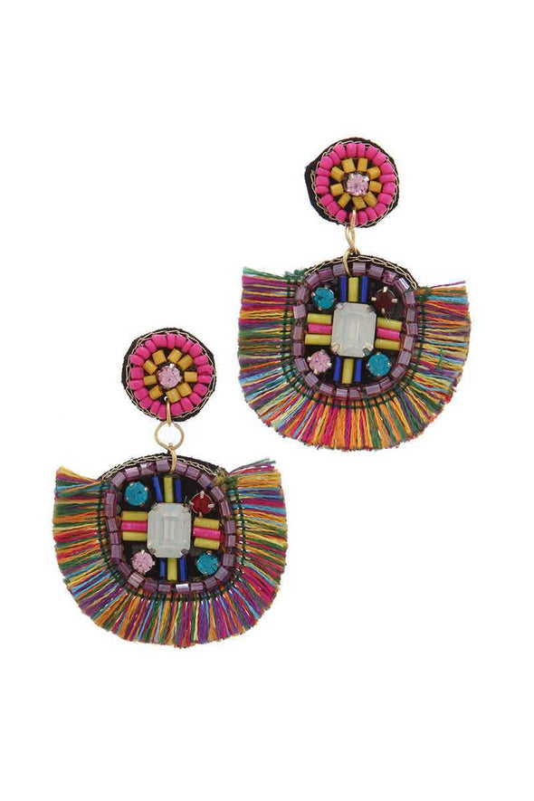 Tassel Post Drop Earring - Babe Shoppe