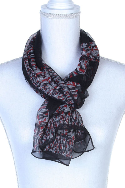 Colorful Pattern Oblong Scarf - Babe Shoppe
