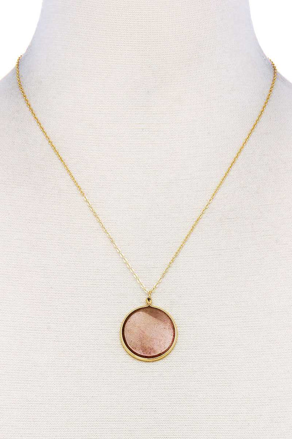 Fashion Circle Pendant Chic Necklace - Babe Shoppe
