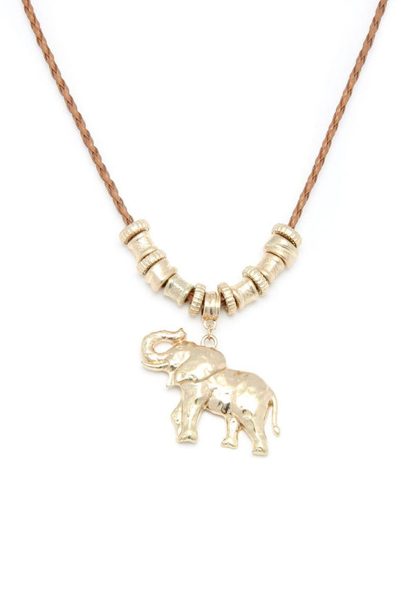 Elephant Charm Necklace - Babe Shoppe