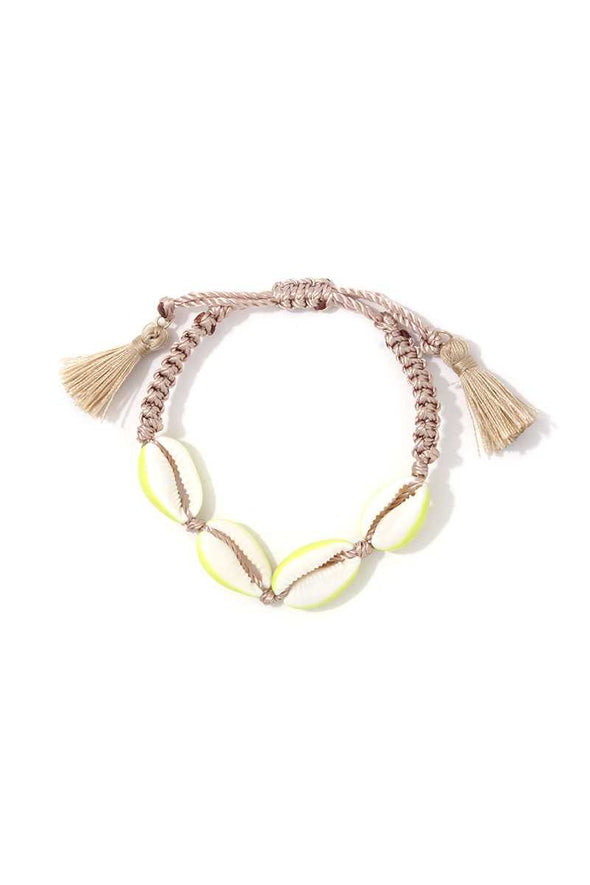 Cowrie Seashell Tassel Adjustable Bracelet - Babe Shoppe