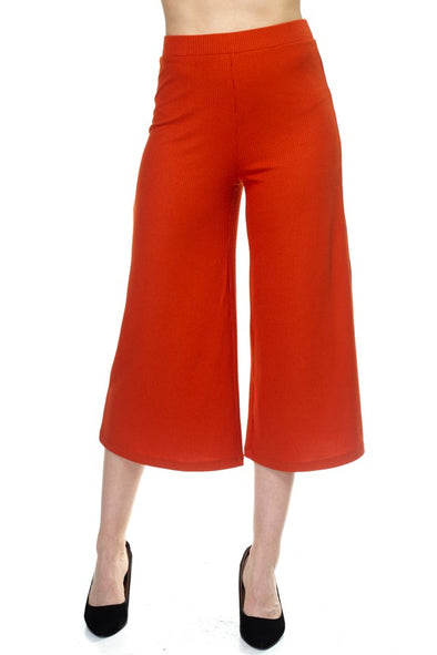 Solid Wide Leg Pants - Babe Shoppe