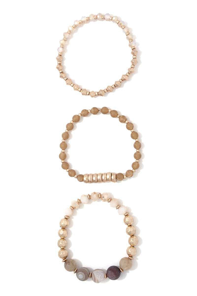 Multi Beaded Stretch Bracelet Set