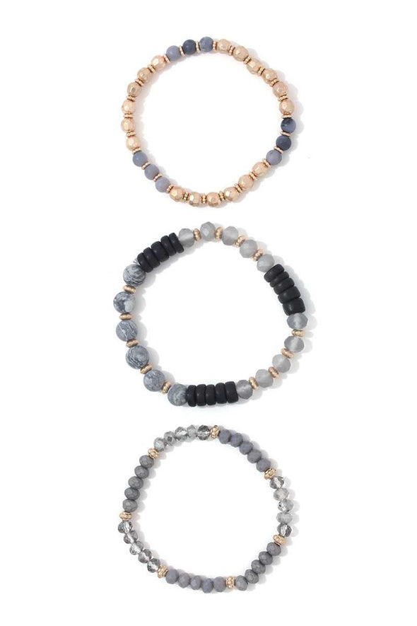 Beaded Stretch Bracelet Set - Babe Shoppe