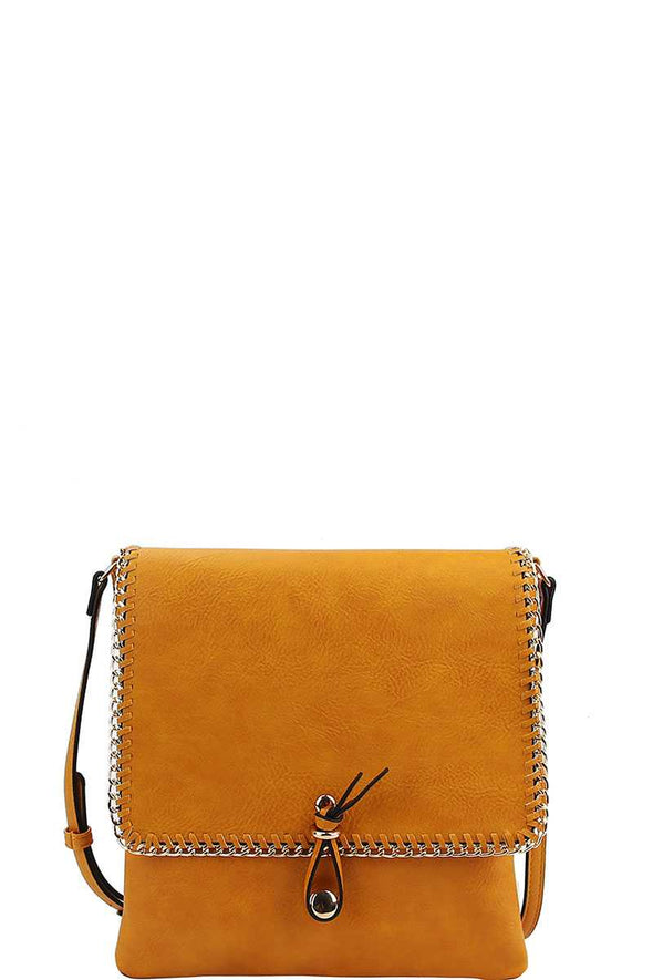 Designer Trendy Chained Crossbody Bag - Babe Shoppe