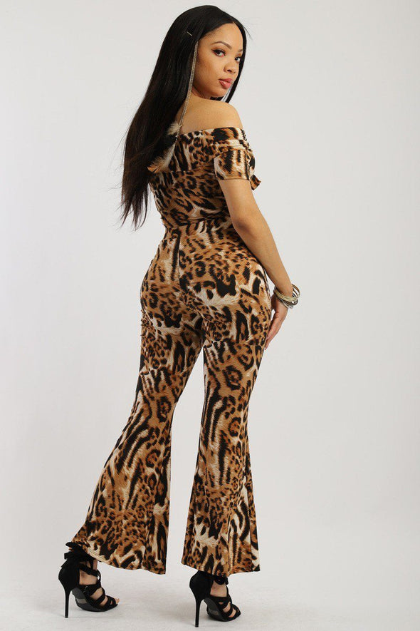 Animal Print, Two-piece Knit Set - Babe Shoppe