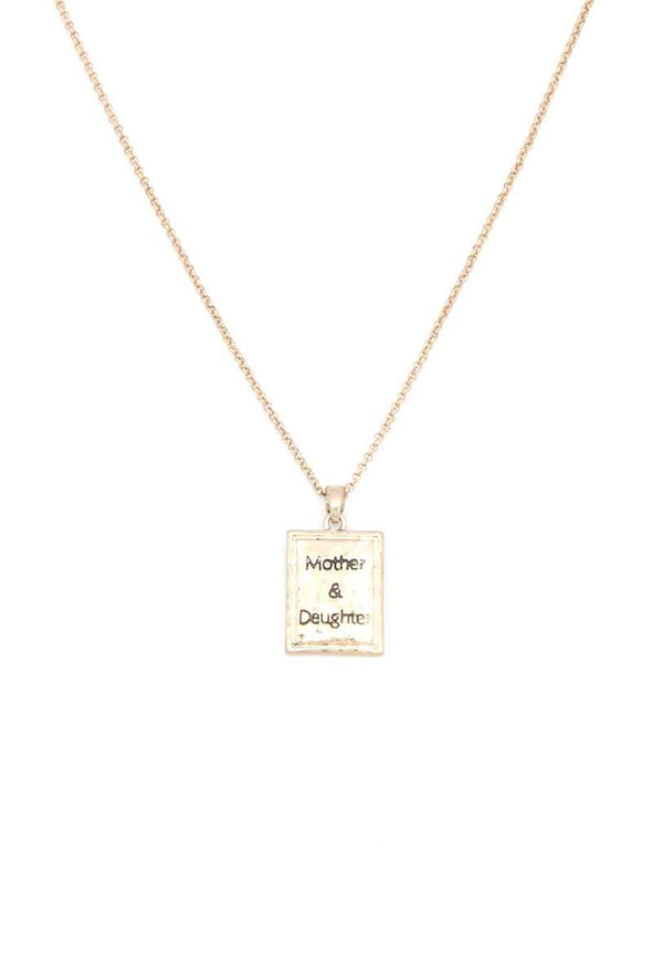 Mother Daughter Pendant Necklace - Babe Shoppe