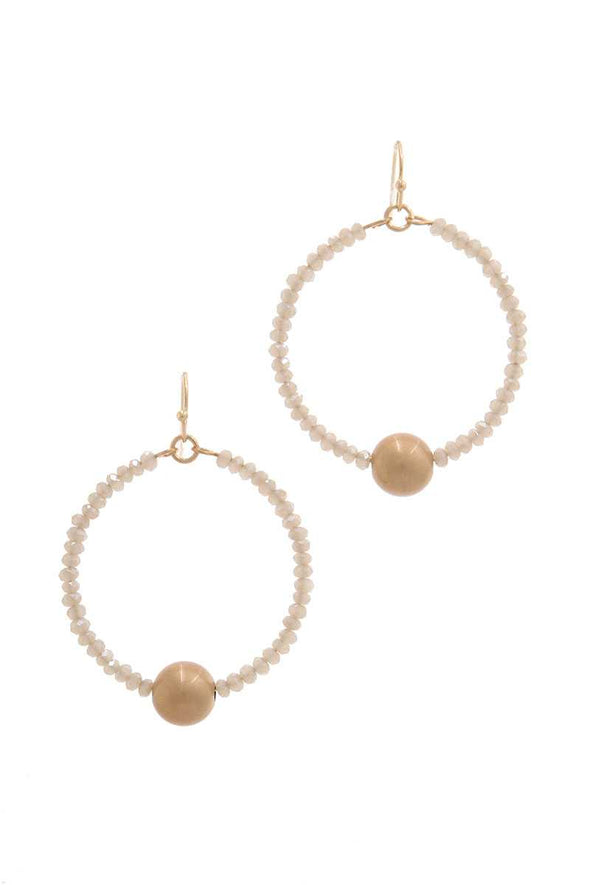 Metal Ball Beaded Drop Earring - Babe Shoppe