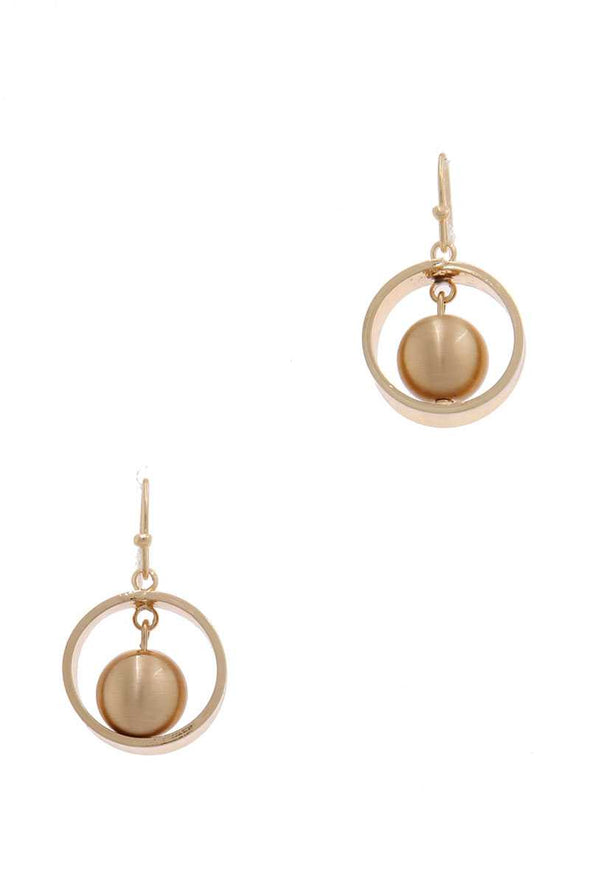 Pearl Circle Drop Earring - Babe Shoppe