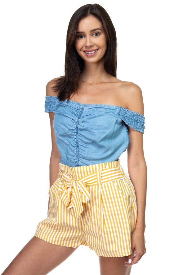 Off Shoulder Tencel Top - Babe Shoppe